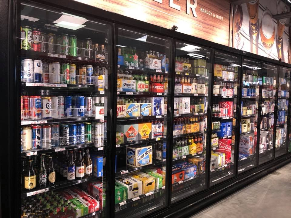 Photo of cold beer section