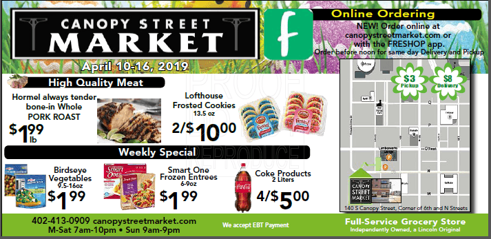 Canopy Street Market weekly ad April 10-16 2019